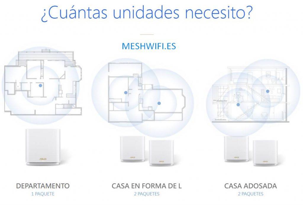 Asus zenwifi mesh wifi sistemas unidades